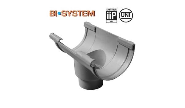 First Plast Naissance centrale PVC Demi-Ronde /à coller Personnalisable-25-Ardoise