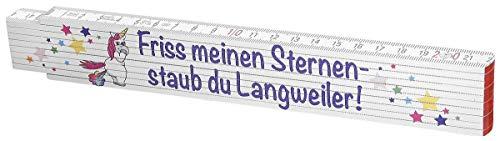 Einhorn Zollstock - Friss Mein Glitzer Scherz- & Fun-Artikel Standard