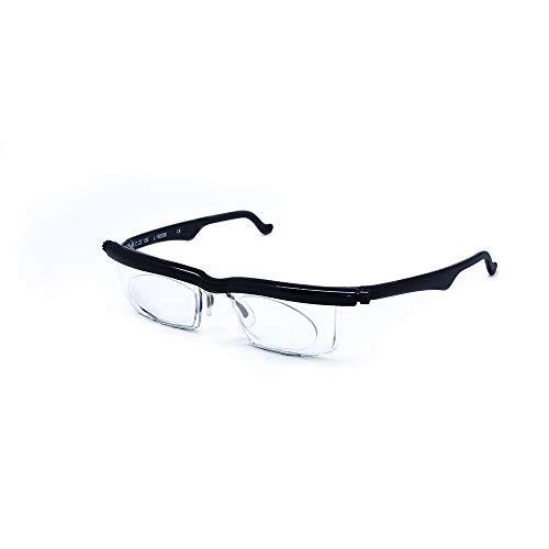 AdLens Schwerpunkt einstellbare Brille-4D + 5D Dioptrien Kurzsichtigkeit Lupe lesen Gläser variabler Stärke - Einstellbare Brillen-lupe