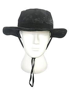 Tactique Boonie Chapeau, QMFIVE Camouflage arrondi chapeau pêcheur soleil capot de Protection pour montée de Paintball Airsoft Outdoor Camping