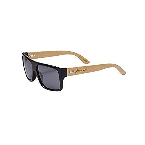 Gafas de sol de madera hechas a mano del brazo de bambú para hombre Sombras UV400 Diseño único fresco de Madera Retro HombresHecho a mano hecho a mano