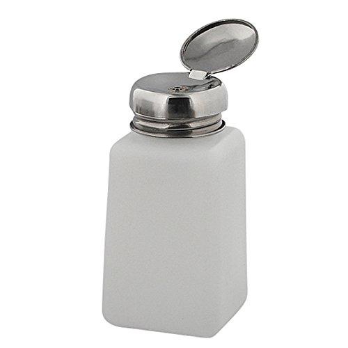 Pump Dispenser m. Metall-Pumper zum dosierten Auftragen, Reiniger Nagellackentferner, Cleaner, Kosmetex Pumpspender, 200 ml (Dispenser Pump)