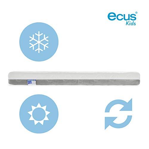 Imagen para Ecus Kids OXSI, Colchón de cuna Oxígena HR con cremallera perimetral, cara antiasfixia e invierno, , 120cm x 60cm