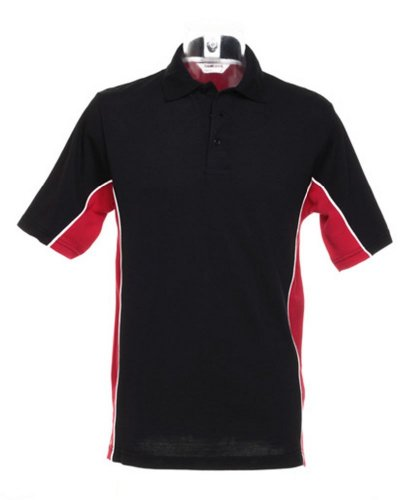 Kustom KitHerren Poloshirt - Black/ Red/ White
