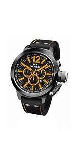 TW Steel CEO TWCE1030 - Reloj unisex de cuarzo, correa de piel color negro (con cronómetro) de TW Steel