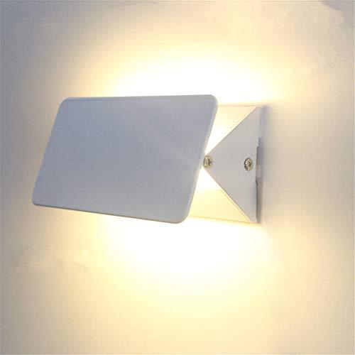 LED Wandleuchte Moderne Kreative Einfache Nachttischlampe Up and Down Spotlight Nachtlicht für Badlampe Wohnzimmer Schlafzimmer Treppenhaus Flur Wandbeleuchtung/Weiß_Weißes Licht