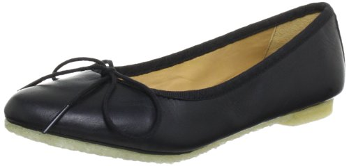 Clarks Originals Lia Grace, Damen Geschlossene Ballerinas, Schwarz (BLACK LEATHER), 37.5 EU
