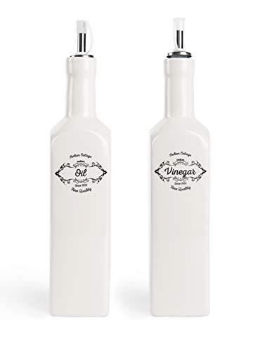 Excelsa Fine Quality Set Öl- und Essigflaschen, Keramik -