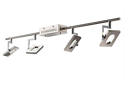 Dimmbarer LED Deckenstrahler / Deckenleuchte, 4 schwenkbare Spots, SHINE-LED, Fischer Leuchten 16504