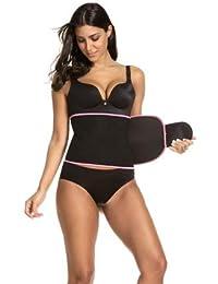 ADA Unisex Slim Sweat Waist Trimmer Belt (Black, Free Size)