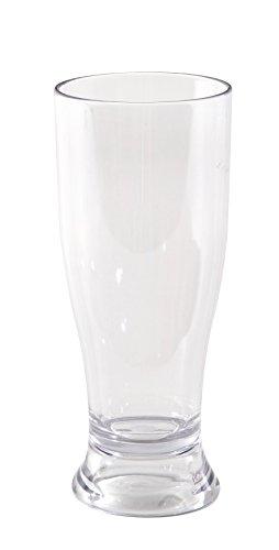 Bo Camp Bierglas aus Polycarbonat für Camping und Reise Weizenglas Trinkglas Spülmaschinenfest 360 ml