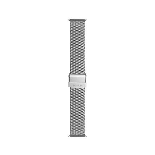 Withings Bracelet Maille Wristband Mixte Adulte, Milanaise Argent, 18mm