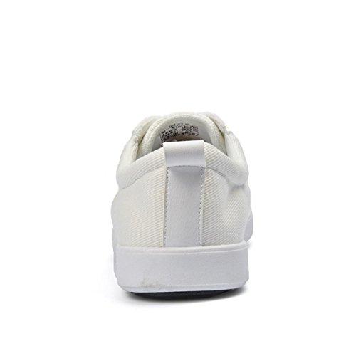 Mode Homme Chaussures Respirantes En Toile Chaussures Décontractées Baskets Ballerines Chaussures De Sport Pleasure Shoes Euro Taille 39-44 Blanc