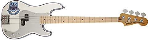 Fender 0141032305 Steve Harris Precision Bass Maple Fingerboard Electric Guitar - Olympic White