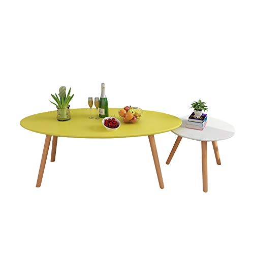 Ylpds Nordic Creative Combination Coffee Table Painted Oval Tea