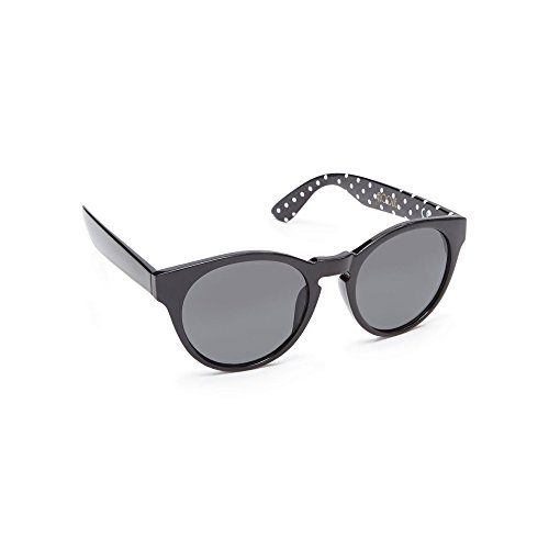 floozie-by-frost-french-womens-black-spotted-print-round-cat-eye-sunglasses