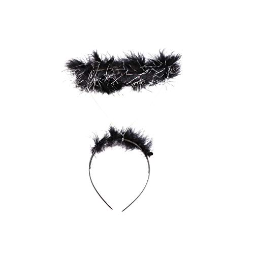 TOYANDONA Angel Halos Hair Hoops Leistungsrequisiten für Cosplay-Party (Schwarz) (Halo Kostüm Jungen)