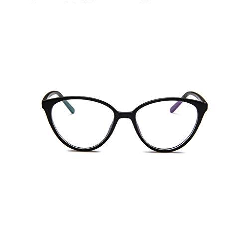 Odjoy-fan montatura per occhiali in plastica alla moda con cerniere a molla le donne occhiali da sole donna rotondi ottici vintage classici moda metallo lenti trasparenti