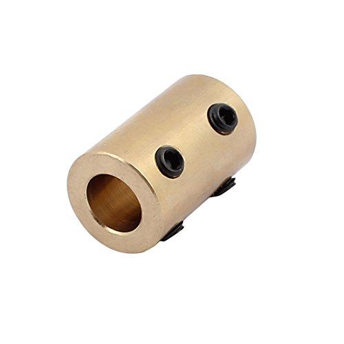 Motor Kupplung (sourcing map 8mm bis 8mm Bohrung Messing Roboter Motor Rad Kupplung Koppler mit fest Schraube DE de)