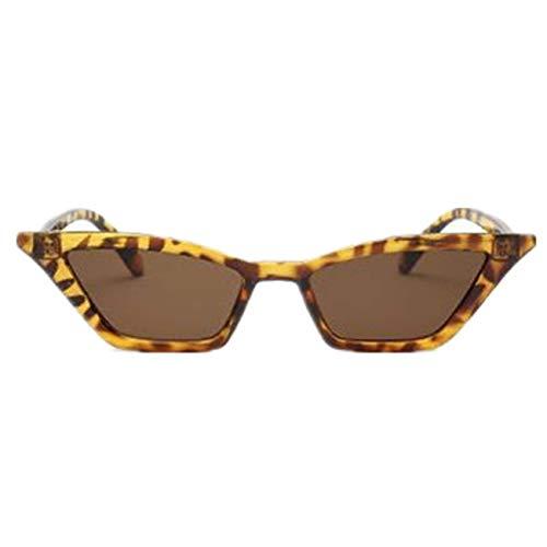 Jeewly Klassische Sportsonnenbrille, Vintage Sunglasses Women Cat Eye Luxury Sun Glasses Retro Small Red Ladies Sungl