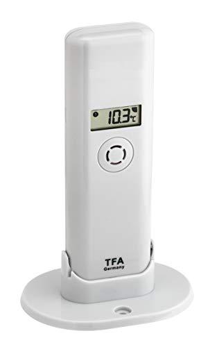 TFA Dostmann Weatherhub Thermo-Hygro-Sender, 30.3303.02, Kontrolle der Temperatur/Raumfeuchtigkeit, mit Display -
