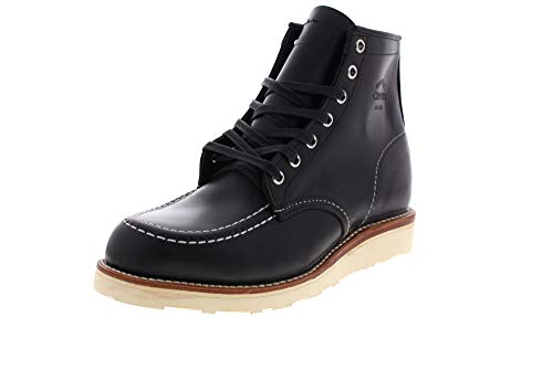 Moc Toe Chukka-stiefel (Chippewa 6' Whirlwind MOC Toe Wedge Boot 1901M19 Black, Größe:US Men 10 / EU 44)