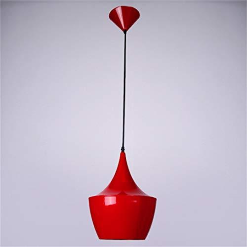 Super helle Lampenschirm Anhänger Finish Decke Kronleuchter Leuchte schwarz/weiß / rot