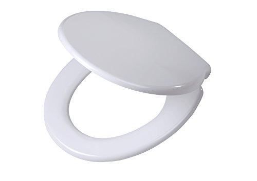 Tiger WC-Sitz Burton mit Absenkautomatik, Easy-Clean-Funktion und Top-Fixing-System, Duroplast, 44,5 x 37,5 x 5 cm, weiß