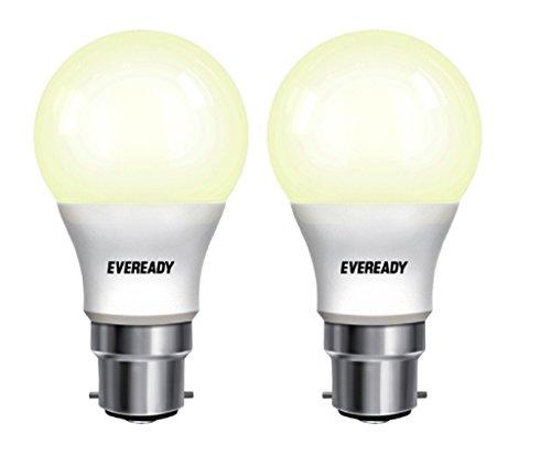 Eveready Base B22 7-Watt LED Bulb (Pack of 2, Warm White Light)