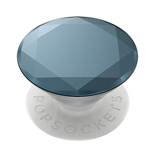 PopSockets - austauschbarer Ausziehbarer Sockel und Griff für Smartphones und Tablets - Metallic Diamond Batik Blue - Metallic Sockel