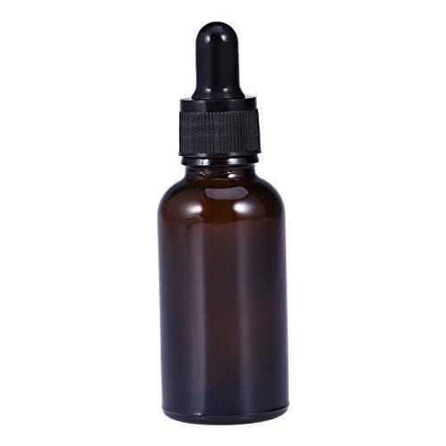 Lurrose 3 Glasflaschen für ätherische Öle, 30 ml, nachfüllbar, leere bernsteinfarbene Flasche mit Tropfer und Kappe, Küchenwerkzeug, Chemie, Labor, Chemie, Chemie, Köln, Parfüm - Köln Parfüm Öl