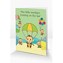 Fun & Interactive 'Five Little Monkeys' Nursery Rhyme Themed Greeting Card Which Comes To Life