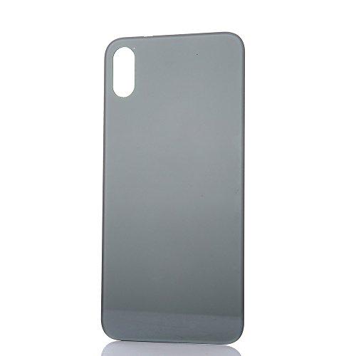 squarex New hinten Akku Glas Cover Gehäuse Rückseite Tür Ersatz für iPhone 8Für iPhone 8Plus für iPhone X, schwarz (Platte Schwarz Fiesta)