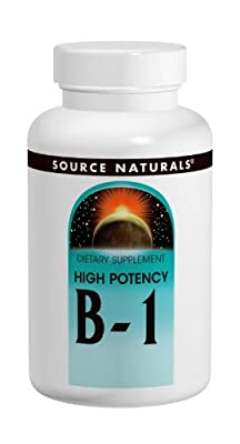 VITAMIN B1 (High Potency) 500mg 50 Tablets from Source Naturals
