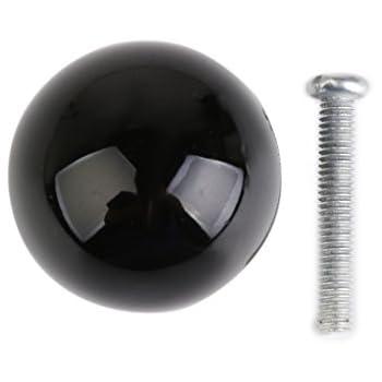 Poignée Bouton de Porte Boule pour Tiroir Placard - Noir