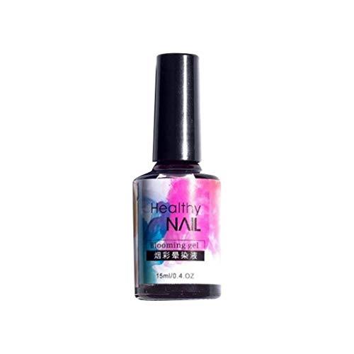 Mehrfarbig Ablösbarer Temperatur Farbwechsel Nagellack Chameleon Gel Polish Aquarell Tinte flüssiger Nagellack Gel Effekt Marmor Farbverlauf Maniküre Frauen Nagel