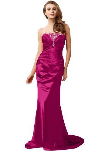 Sunvary sirena senza spalline, in stile elegante, per abiti da sera Fuchsia