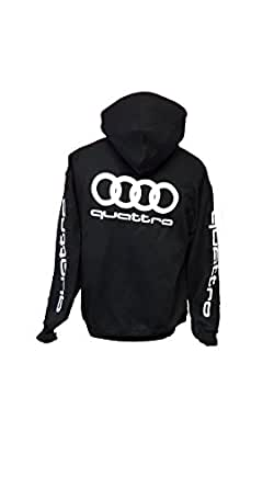 audi quattro sweat shirt pull over noir 52 v tements et accessoires. Black Bedroom Furniture Sets. Home Design Ideas