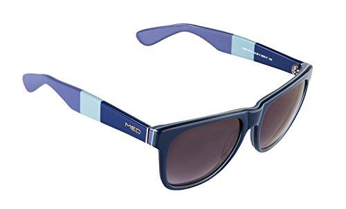 rainbow safety Damen Herren Sonnenbrille MED Limitierte Edition UV400 Schutz Verlaufsglas O1016-BL3