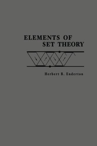 Elements Of Set Theory por Herbert B. Enderton