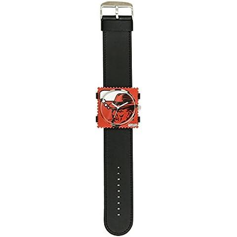 S.T.A.M.P.S. Stamps–Impermeable Completo Reloj Esfera P. Marlowe con cuero negro pulsera