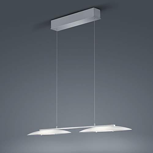 Helestra LED Pendelleuchte Sally Nickel-matt Chrom | LEDs fest verbaut 10W 1600lm warmweiß | 26/1641.27/5210