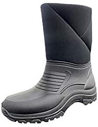 Doposci Uomo Pelliccia Stivali da Neve Montagna Pioggia Made in Italy Nero  Grey f0084398d3d
