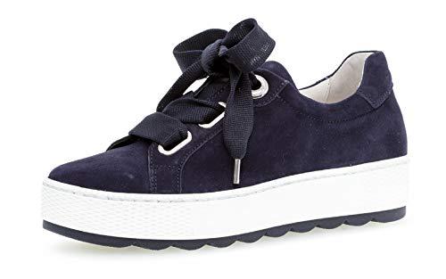 Gabor 26.535 Damen Sneaker,Low-Top Sneaker, Frauen,Business Sneaker,Halbschuh,Schnürschuh,Strassenschuh,sportlich,Freizeitschuh,Comfort-Mehrweite,Optifit- Wechselfußbett,Bluette,5.5 UK