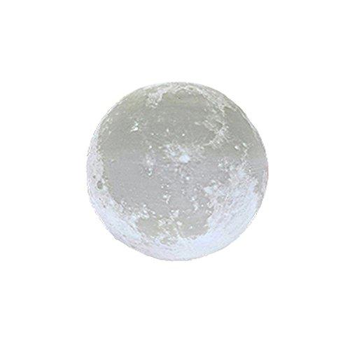 LED Mond Lampe Mit Sockel mit Fernbedienung Farbige Dekoleuchte 3D Mond Kunst LED RGB Mondlicht tragbares Nachtlicht, Lichtfarben wechsel, PLA PVC Material Mond Nachtlicht Lampe Schlafzimmer Deko