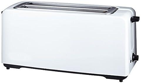 AmazonBasics Automatik-Toaster, Leistung: 1400 W, für 4 Scheiben, Weiß