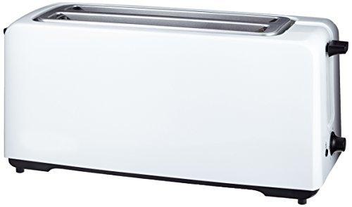 AmazonBasics Automatik-Toaster, Leistung: 1400 W, für 4 Scheiben, Weiß (Basic-toaster)