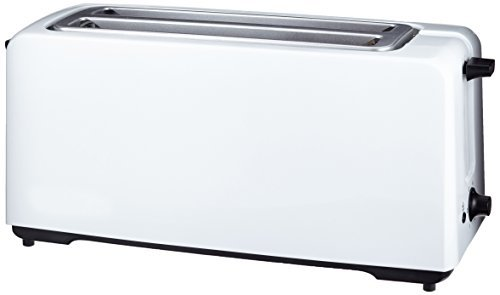AmazonBasics - Tostadora automática (1400 W, 4 rebanadas), color blanco