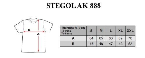 STEGOL Herren T-Shirt Kurzarm Freizeit Figurbetont Slim Fit AK888 Khaki