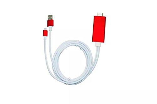 Preisvergleich Produktbild 8Pin auf zu AV HDMI/HDTV TV Kabel Adapter für Apple iPhone 5C (rot)
